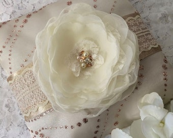 Ring Bearer Pillow, Rose Gold Ring Pillow, Wedding Accessory,Floral Ring Pillow,Rose Gold Wedding Pillow,Rose Gold Ring Bearer Pillow