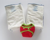 One dozen Green Apple Taffy flats with FREE diaper cover and snappi