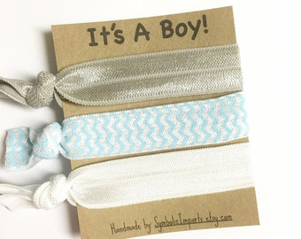 Its a Boy Favors - Baby Shower Favors - Baby Shower - Boy Baby Shower - Hair Tie Favor - Baby Boy Shower Favors -  Baby Shower Hair Ties