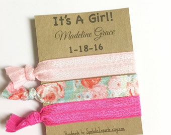 Baby Shower Favors - Its a Girl Favors - Baby Shower - Girl Baby Shower - Hair Tie Favor - Baby Girl Shower Favors -  Baby Shower Hair Ties