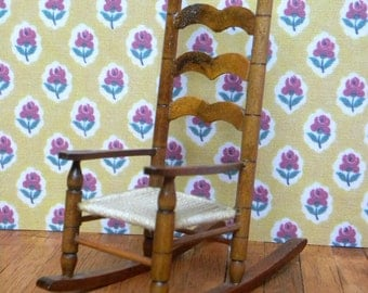 Vintage dollhouse rockingchair