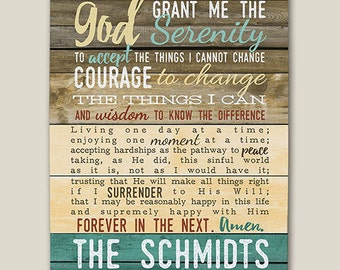 Personalized Serenity Prayer Canvas  -gfy91100266
