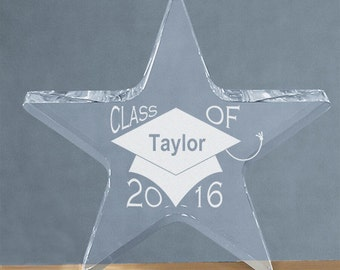 Engraved Class Of 2016 Graduation Star Acrylic Keepsake -gfy366257