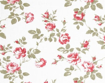 90438 Tanya Whelan Scattered roses in ivory home dec fabric  - 1 yard