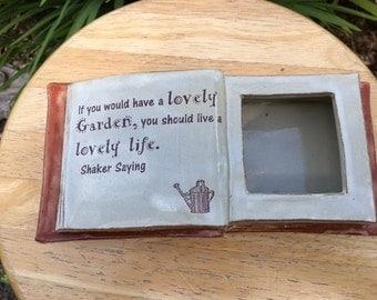 Ceramic Book Planter