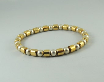 Gold and Silver Cordless Magnetic Bracelet
