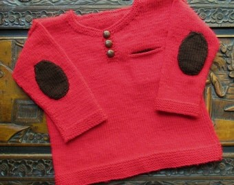Elbows Sweater - KNITTING PATTERN - pdf file by automatic download