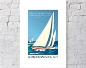 Nautical, sailboats keepsake / print