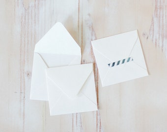 "White Mini Square Envelopes - 10 pc - 2.75"" x 2.75"""