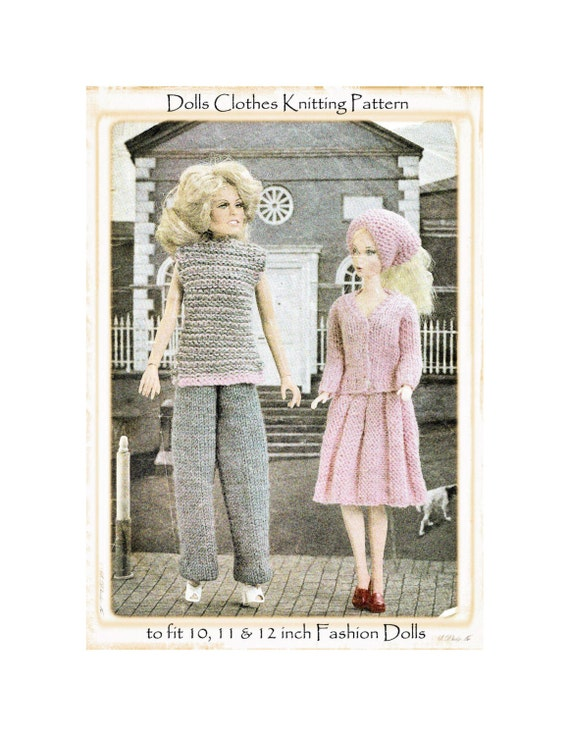 Barbie Knitting Patterns To Download : Instant Download PDF KNITTING PATTERN to make Barbie or Sindy