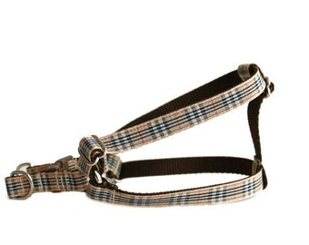 Dog Harness, Plaid Harness, Step in Harness