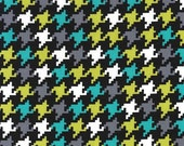 Everyday Houndstooth - Mermaid Aqua Gray from Michael Miller