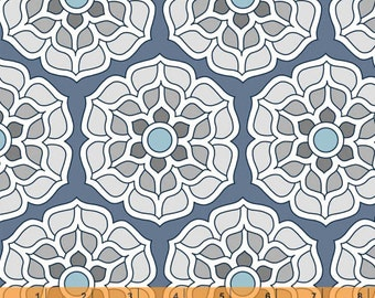 Cascade - Medallion Ice Blue by Jessica Levitt from Windham Fabrics