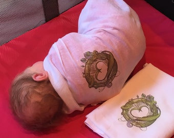 The Twisted Beanstalk Swaddle Blanket
