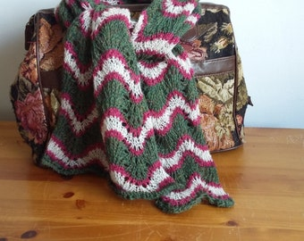Handknitted shetland   lace scarf