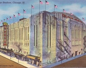 Chicago Stadium, Chicago, Illinois - Linen Postcard - Unused (BBB)