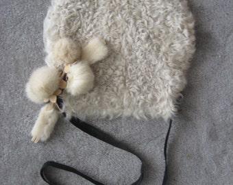 Repurpose leather and fur shoulder bag messenger handmade in Los Angeles eco-friendly