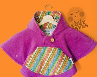 Car Seat Poncho Cape Fleece (Purple Pucci)