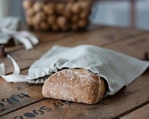 Linen Bag for Bread - Natural Linen Bread Bag - Reusable Bread Keeper - Natural linen bag