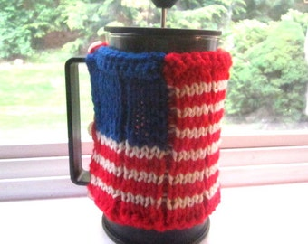 American Flag French Press Cozy