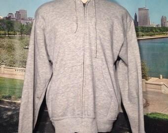 1980's triblend hooded sweatshirt, fits like a medium