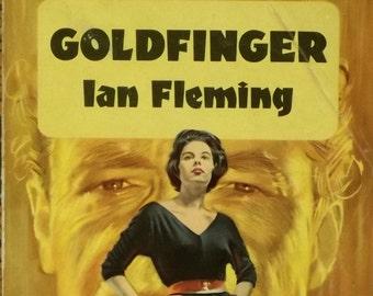 1960s James Bond Goldfinger book vintage Ian Fleming paperback book