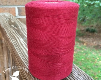 BULK • 800 Yards Total • Solid  Baker's  Twine / String • 100% Cotton • Eco Friendly •Wrap • Bakery String  • Made In USA • Cardinal Red