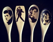 Elvis Presley Wooden Spoons, Elvis Gifts, Woodburned Home Decor, Elvis Christmas Art, Food Lovers, Food Gifts Under 30, The King of Rock mom