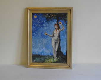 Original Oil Painting 'Eve' by Nathan Clark - 32cm x 42cm.