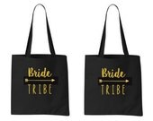 7 Personalized Bride Tribe Tote Bags