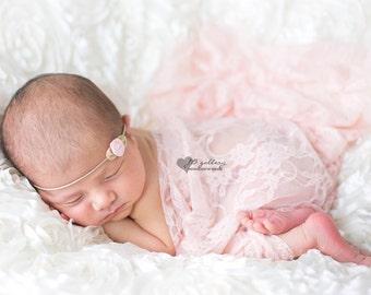 Newborn Headband and Wrap, Tieback Headband, Lace Baby Wrap, Newborn Tieback, Photography Prop Set, Baby Girl Headband, Newborn Photo Props