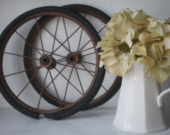 Antique Set of Two Carriage Wheels