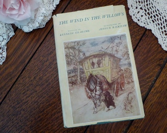Wind In The Willows 1962 Hardback Dustcover, Kenneth Grahame Willows 1962