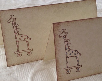 Giraffe Place Cards - Baby Shower Place Cards - Baby Shower Name Cards - Giraffe Buffet Cards - Set of 12