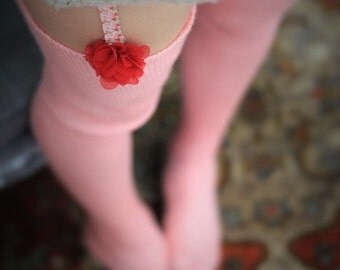 Thigh High stockings - Victorian Steampunk Edwardian OVER THE KNEE - baby pink lace yarn looks stunning with garters Wedding style Romantic
