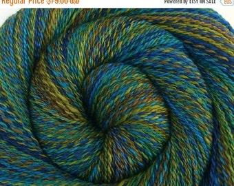 Luxury Handspun Yarn, 2 ply - FOREST GLEN - Handpainted Merino / Yak / Bombyx Silk, Fingering weight, 480 yards
