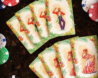 Vintage 1950's Double Set of Flamenco Dancer Playing Cards