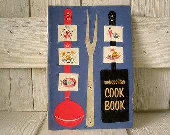 Vintage cookbook retro Metropolitan mid century design 1957