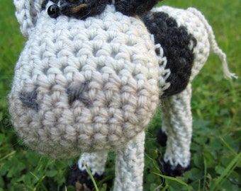 Emmental - a hand crocheted super cow!