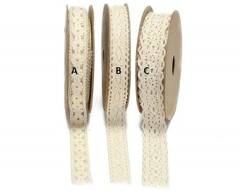 Lace Ribbon Ecrù Cotton 15 meters