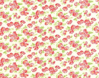 Little Ruby cotton floral fabric by Bonnie and Camille for Moda fabric 55127 17