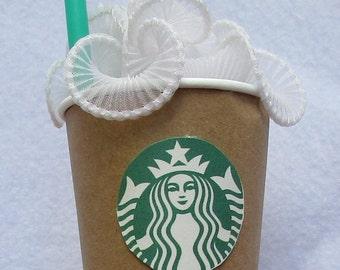 Starbucks Frappuccino inspired headband fascinator