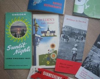 Vintage Maps and Travel Brochures Sweden, Stockholm, 1957