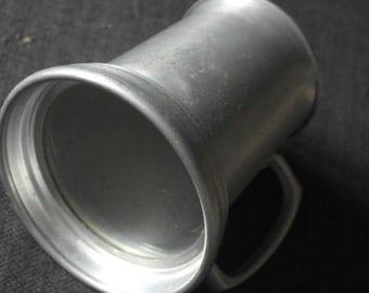 vintage aluminum glass botton tankard
