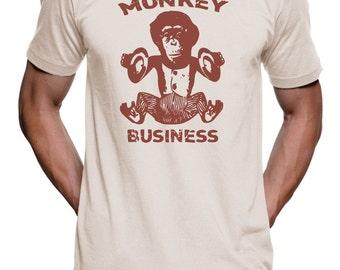 Monkey Business T Shirt - Drummer Monkey Tee