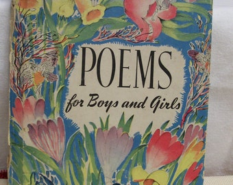 Vintage POEMS Book for Boys and Girls Whitman Publishing 1945