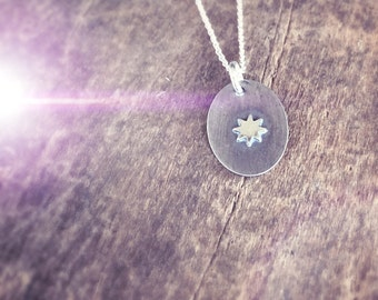 Wandering Star Necklace, Sterling Silver Star Necklace, Soldered Star Charm Pendant, Silhouette Jewelry, Astrology Jewelry Gift for Her