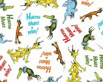 149100230 - Dr. Seuss Horton Hears a Who Adventure Cotton Print Fabric By the Yard