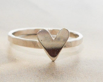 Silver Heart Ring in Sterling Silver