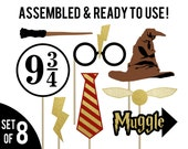 Harry Potter Photo Booth Props . Harry Potter Birthday Props . Harry Potter Bachelorette Party . Harry Potter Wedding Props . Gold Glitter
